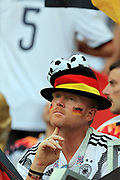 MOSCOW, RUSSIA - JUNE 17:  fan of Germany reacts after the match during the 2018 FIFA World Cup Russia group F match between Germany and Mexico at Luzhniki Stadium on June 17, 2018 in Moscow, Russia. , <br /> Football World Cup Russia 2018 - Germany vs Mexico 0:1, <br /> Football World Cup match in MOSCOW on June 17th 2018, Fussball-WM in Moskau, Deutschland - Mexiko, <br /> Honorarpflichtiges Foto, Fee liable image, Copyright &copy; ATP Amin JAMALI