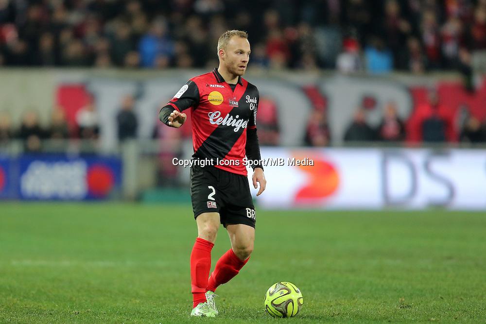 Lars JACOBSEN  - 24.01.2015 - Guingamp / Lorient - 22eme journee de Ligue1<br />Photo : Vincent Michel / Icon Sport *** Local Caption ***