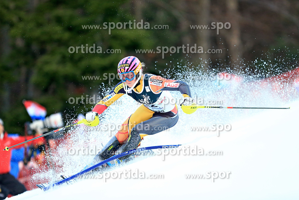 04.01.2013, Crveni Spust, Zagreb, AUT, FIS Ski Alpin Weltcup, Slalom, Damen, 1. Lauf, im Bild Marie-Michele Gagnon (CAN) // Marie-Michele Gagnon of Canada in action // during 1st Run of the ladies Slalom of the FIS ski alpine world cup at Crveni Spust course in Zagreb, Croatia on 2013/01/04. EXPA Pictures © 2013, PhotoCredit: EXPA/ Pixsell/ Slavko Midzor..***** ATTENTION - for AUT, SLO, SUI, ITA, FRA only *****