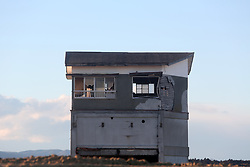 Picture taken on February 6, 2018 shows an abandoned building in Miyagi prefecture.<br /> A massive earthquake on March 11, 2011 sent a tsunami into Japan's northeast coast, leaving more than 18,000 people dead or missing and causing Fukushima nuclear crisis, which made residents near the Daiichi power plant fled their homes and business. Photo by Farzaneh Khademian/ABACAPRESS.COM
