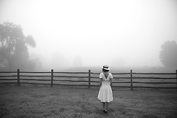 Samantha, Fog, Woodstock, VT, and surroundings, July 2, 2017. (Photo by Astrid Riecken)
