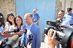 June 3, 2017 - Burmarrad, Malta - Prime Minister Joseph Muscat Votes in Malta Election 2017  on Saturday, June 3, 2017 in Burmarrad, Malta. Muscat is seeking reelection after calling for a snap election in May. Muscat has been embroiled in controversy since the release of the Panama Papers in 2016, which allege close associates of Muscat established shell companies overseas in order to avoid paying taxes. (Credit Image: © Kendall Gilbert/NurPhoto via ZUMA Press)