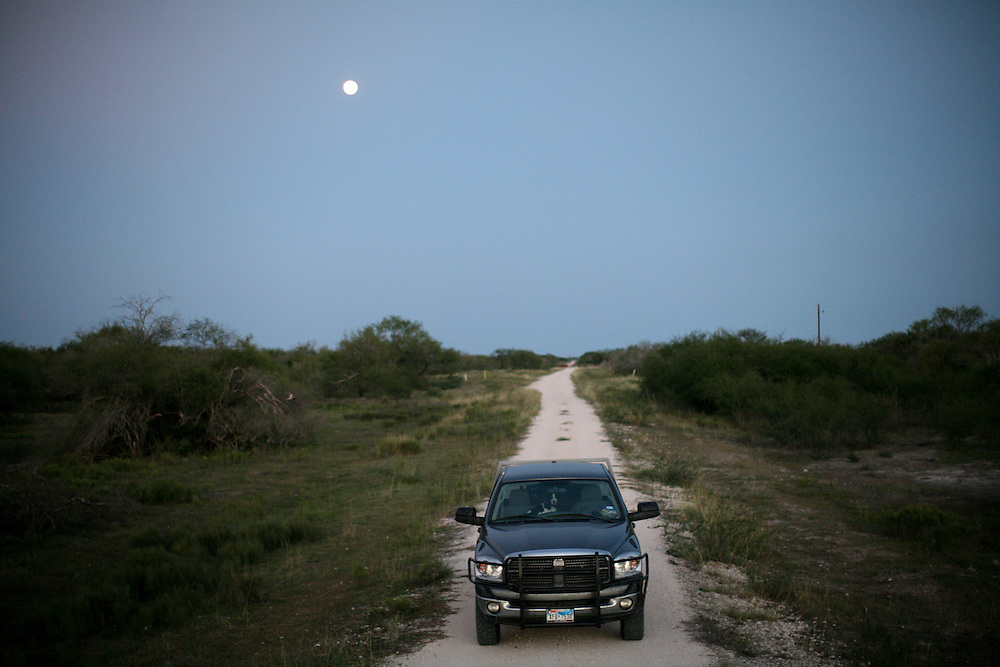 A Texas road on the King Ranch in south Texas.