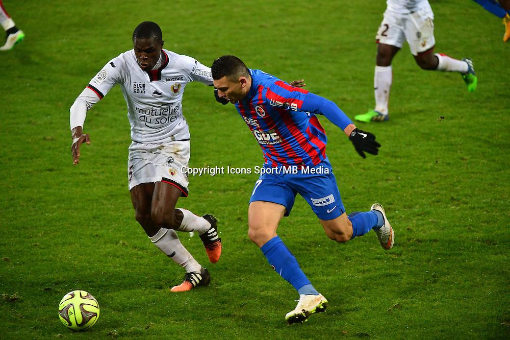 Mathieu DUHAMEL / Romain GENEVOIS - 06.12.2014 - Caen / Nice - 17eme journee de Ligue 1 -<br />Photo : Dave Winter / Icon Sport