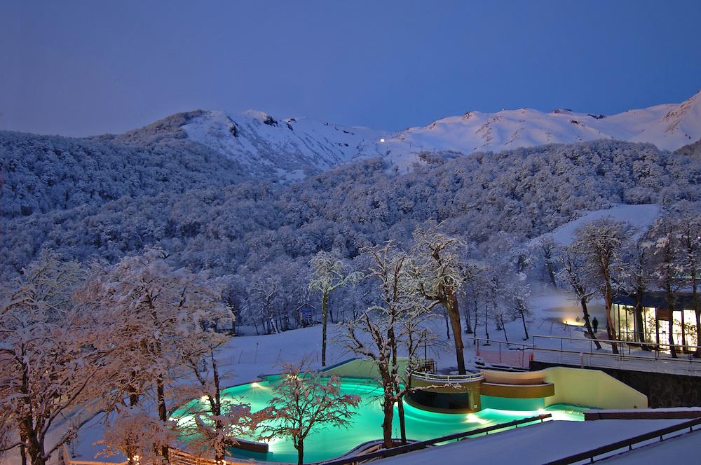 View at Gran Hotel Termas de Chillan ski resort in Chile.