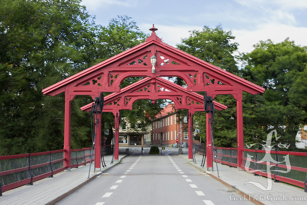 Old Town Bridge, in Trondheim, Norway, which crosses the Nidelva River.<br /> <br /> https://en.wikipedia.org/wiki/Old_Town_Bridge