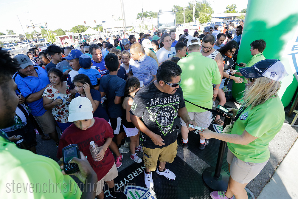 July 11, 2017: OKC Energy FC plays Liga MX club Pachuca in a friendly at Taft Stadium in Oklahoma City, Oklahoma.