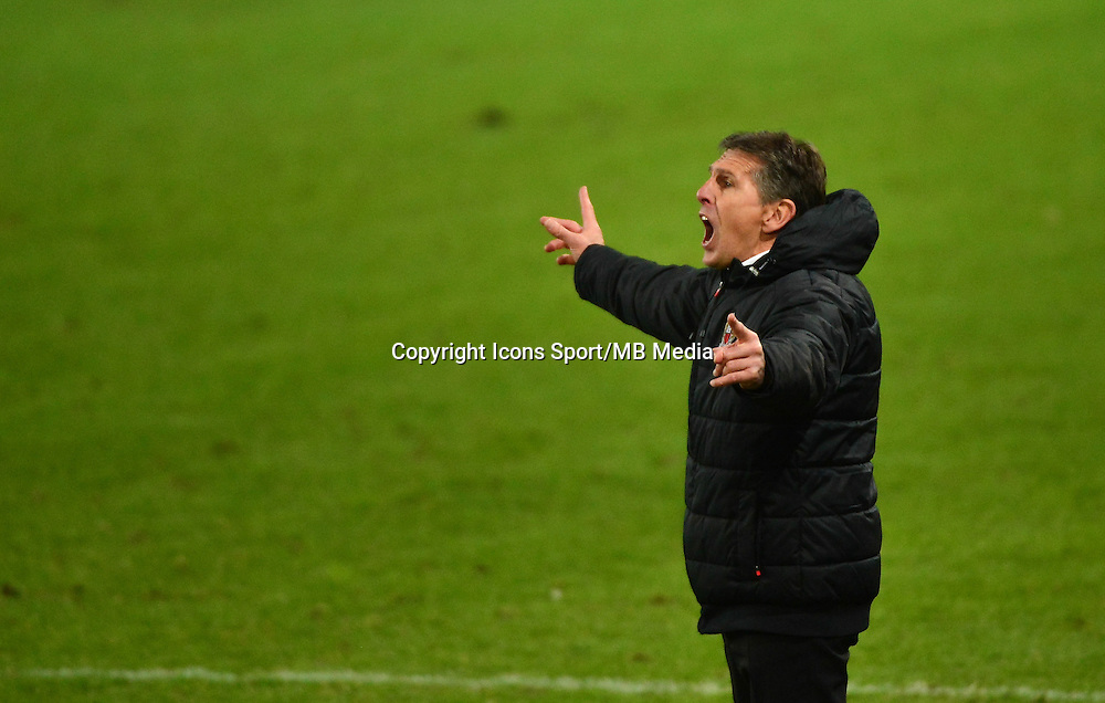 Claude PUEL - 05.12.2014 - Caen / Nice - 17eme journee de Ligue 1 -<br />