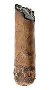 halve smoked cigar