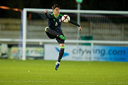 BANGOR, WALES - Tuesday, November 15, 2016: Wales' Regan Poole in action against Luxembourg during the UEFA European Under-19 Championship Qualifying Round Group 6 match at the Nantporth Stadium. (Pic by David Rawcliffe/Propaganda)