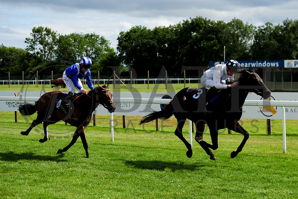 Aryaaf ridden by Dane O'Neill and trained by Simon Crisford in the Ebf Maiden Stakes (Class 5) race. Modern British Art ridden by Jason Watson and trained by Michael Bell in the Ebf Maiden Stakes (Class 5) race. - Ryan Hiscott/JMP - 07/08/2019 - PR - Bath Racecourse - Bath, England - Race Meeting at Bath Racecourse