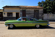 Old American car in Cruces, Cienfuegos Province, Cuba.