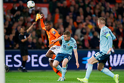 10-10-2019 NED: Netherlands - Northern Ireland, Rotterdam<br /> UEFA Qualifying round ­Group C match between Netherlands and Northern Ireland at De Kuip in Rotterdam / Denzel Dumfries #22 of the Netherlands, Shane Ferguson #11 of Northern Ireland