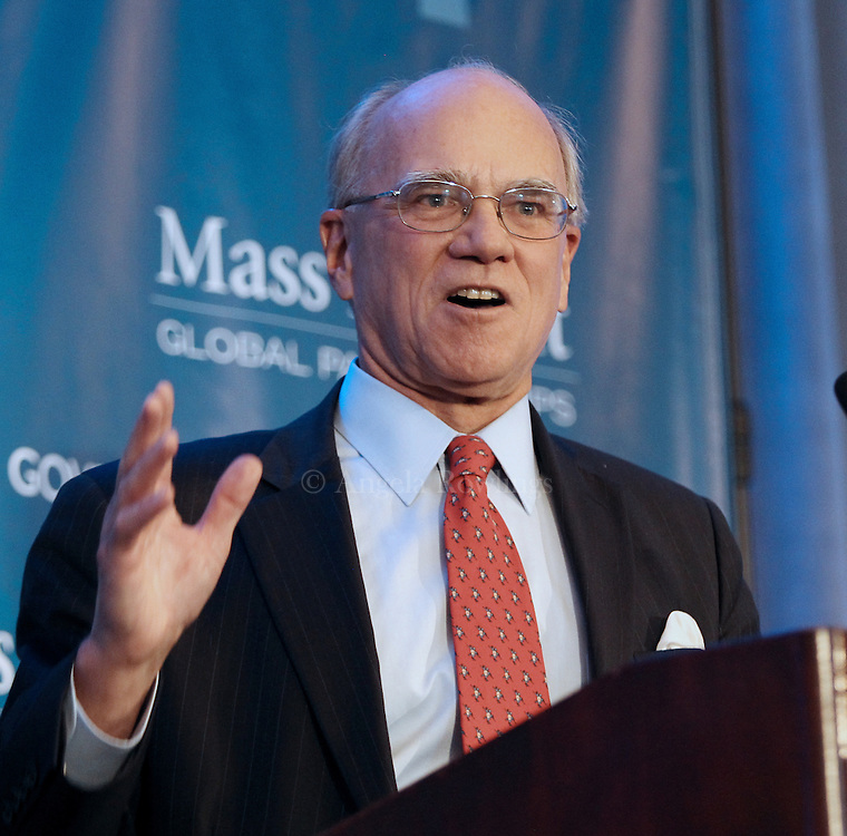 (Boston, MA - 3/11/15) William Guenther, Chairman, CEO & Founder of Mass Insight Global Partnerships, speaks during the Global Massachusetts 2024 luncheon at the Hyatt Regency Hotel, Wednesday, March 11, 2015. Staff photo by Angela Rowlings.