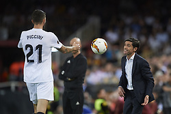 May 9, 2019 - Valencia, Spain - Marcelino Garcia Toral of Valencia gives instructions during the UEFA Europa League Semi Final Second Leg match between Valencia and Arsenal at Estadio Mestalla on May 9, 2019 in Valencia, Spain. (Credit Image: © Jose Breton/NurPhoto via ZUMA Press)