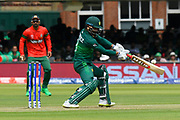 Mohammad Hafeez of Pakistan plays an attacking shot during the ICC Cricket World Cup 2019 match between Pakistan and Bangladesh at Lord's Cricket Ground, St John's Wood, United Kingdom on 5 July 2019.