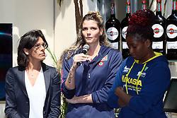 CONSUELO MANGIFESTA CRISTINA CHIRICHELLA E MYRIAM SYLLA<br /> CONFERENZA LEGA VOLLEY FEMMINILE SQUADRE ITALIANE PROTAGONISTE IN EUROPA<br /> FOTO FILIPPO RUBIN / LVF