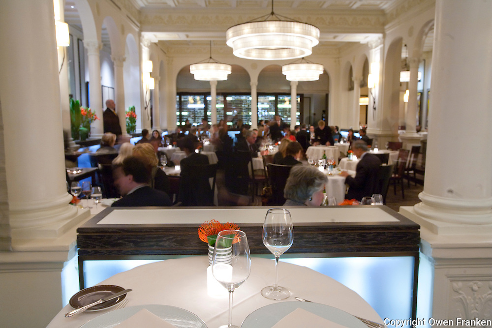 The dining room of the three star Michelin Restaurant Daniel, of Daniel Boulud, New York City