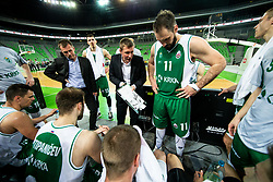 Simon Petrov, head coach of Krka during basketball match between KK Petrol Olimpija and KK Krka in Round #6 of Liga Nova KBM za prvaka 2018/19, on April 5, 2019, in Arena Stozice, Ljubljana, Slovenia. Photo by Vid Ponikvar / Sportida