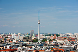 Skyline of Berlin with Fernsehturm or Television Tower