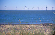 AYBR35 Scroby Sands offshore windfarm Caister Great Yarmouth Norfolk England