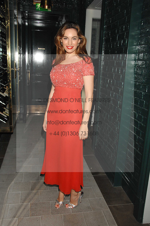 KELLY BROOK at a party to launch the Dom Perignon OEotheque 1995 held at The Landau, Portland Place, London W1 on 26th February 2008.<br />