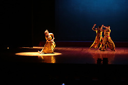 October 5, 2018 - Dhaka, Bangladesh - Indian dance group are performing  at Ganga Jamuna Sangskritik Utshab Dhaka Bangladesh on October 07, 2018. Dancers' Guild, an Indian dance group, brought Rabindranath Tagore's tale Chandalika to life in the form of a dance-drama at the Ganga Jamuna Sangskritik Utshab 2018. Their production, Tomari Matir Kanya was staged on the first day of the festival at the Jatiya Natyashala Auditorium of Bangladesh Shilpakala Academy. (Credit Image: © Kazi Salahuddin Razu/NurPhoto/ZUMA Press)