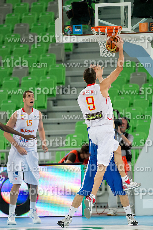 Alejandro Barrera of Spain during basketball match between National teams of Spain and France in semifinal of U20 Men European Championship Slovenia 2012, on July 21, 2012 in SRC Stozice, Ljubljana, Slovenia. (Photo by Matic Klansek Velej / Sportida.com)