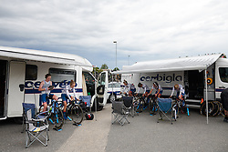 Cervélo Bigla warm up for Postnord Vårgårda West Sweden Team Time Trial 2018, a 42.5 km team time trial in Vårgårda, Sweden on August 11, 2018. Photo by Sean Robinson/velofocus.com