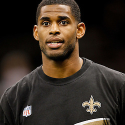 January 1, 2012; New Orleans, LA, USA; New Orleans Saints wide receiver Marques Colston (12) prior to kickoff of a game against the Carolina Panthers at the Mercedes-Benz Superdome. Mandatory Credit: Derick E. Hingle-US PRESSWIRE