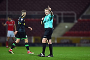 Referee Trevor Kettle during the EFL Sky Bet League 2 match between Swindon Town and Yeovil Town at the County Ground, Swindon, England on 10 April 2018. Picture by Graham Hunt.