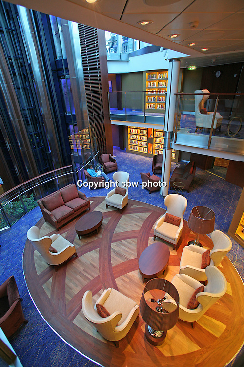 Celebrity Eclipse interior photos..The Library.