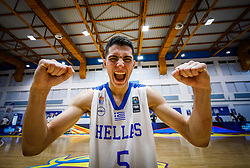 Nikolaidis  Alexandros of Greece celebrates  after the basketball match between National teams of Greece and Slovenia in the Group Phase C of FIBA U18 European Championship 2019, on July 29, 2019 in  Nea Ionia Hall, Volos, Greece. Photo by Vid Ponikvar / Sportida