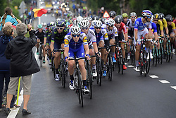 July 2, 2017 - Liege, Belgique - LIEGE, BELGIUM - JULY 2 : VERMOTE Julien (BEL) Rider of Quick-Step Floors Cycling team is leading the peloton during stage 2 of the 104th edition of the 2017 Tour de France cycling race, a  stage of 203 kms between Dusseldorf and Liege on July 02, 2017 in Liege, Belgium, 2/07/2017 (Credit Image: © Panoramic via ZUMA Press)