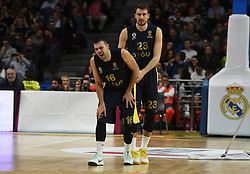 March 2, 2018 - Madrid, Madrid, Spain - Kostas Sloukas, #16 of Fenerbahce gestures during the 2017/2018 Turkish Airlines EuroLeague Regular Season Round 24 game between Real Madrid and Fenerbahce Dogus Istanbul at WiZink center in Madrid. (Credit Image: © Jorge Sanz/Pacific Press via ZUMA Wire)