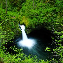 Punchbowl Falls along Eagle Creek, Columbia River Gorge National Scenic Area, Oregon, US