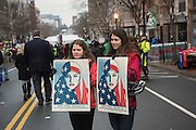 DEMONSTRATORS FROM TENNESEE, Public going to the Inauguration of Donald Trump and demonstrators and various entrances,  Washington DC. 20  January 2017