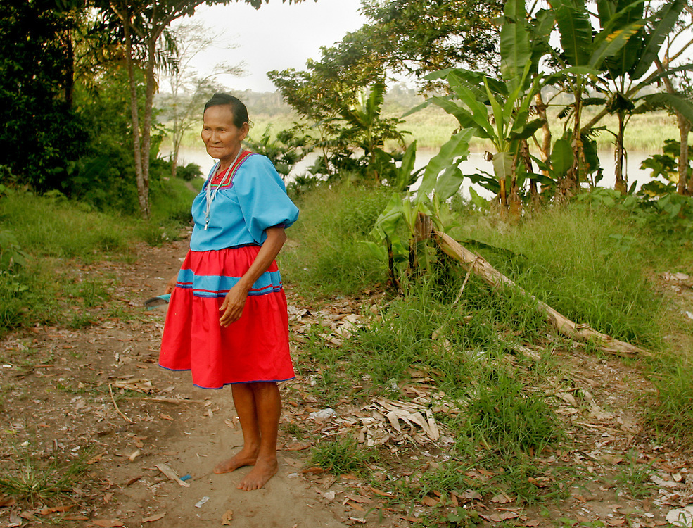 Cofan village Dureno in the Ecuadorian Amazon.