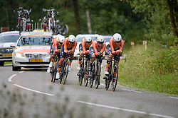 Boels Dolmans on their way to winning the 26.4 km Stage 2 Team Time Trial of the Boels Ladies Tour 2016 on 31st August 2016 in Gennep, Netherlands. (Photo by Sean Robinson/Velofocus).