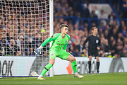 Chelsea goalkeeper Kepa Arrizabalaga (1) during the Europa League  quarter-final, leg 2 of 2 match between Chelsea and Slavia Prague at Stamford Bridge, London, England on 18 April 2019.