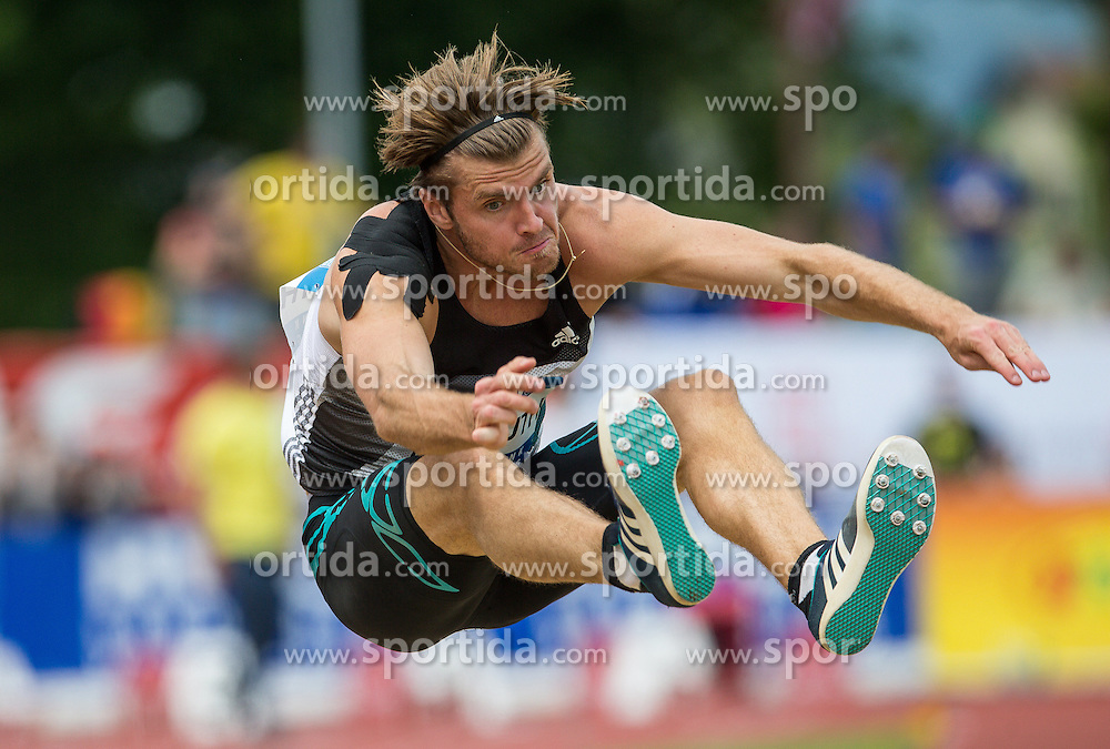 28.05.2016, Moeslestadion, Goetzis, AUT, 42. Hypo Meeting Goetzis 2016, Zehnkampf der Herren, Weitsprung, im Bild Rico Freimuth (GER) // Rico Freimuth of Germany during the Long jump event of the Decathlon competition at the 42th Hypo Meeting at the Moeslestadion in Goetzis, Austria on 2016/05/28. EXPA Pictures © 2016, PhotoCredit: EXPA/ Peter Rinderer