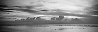 Panoramic view of Agung and the coast of Bali from Gili Trewangan, Lombok, Indonesia.