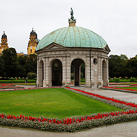 Europe, Germany, Munich. The Temple of Diana in Hofgarten (Court Garden) of Munich.