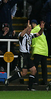 Photo: Andrew Unwin.<br />Newcastle United v Mansfield Town. The FA Cup.<br />07/01/2006.<br />Newcastle's Alan Shearer celebrates his 200th club goal.