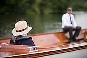 Henley on Thames, United Kingdom. 2016 Henley Masters' Regatta. Henley Reach. England. on Saturday  09/07/2016   [Mandatory Credit/ Peter SPURRIER/Intersport Images]<br /> <br /> Hats at henley. Rowing, Henley Reach, Henley Masters' Regatta.<br /> <br /> General View,  Henley Reach, venue, for the 2016 Henley Masters Regatta.