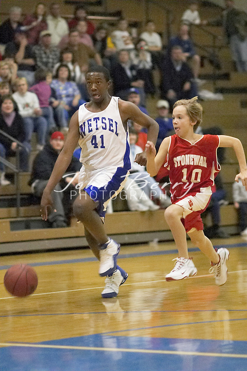 MCHS 8th Grade Boys Basketball..vs North Fork..Second Period..December 17, 2004