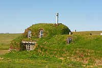 Islande, ferme traditionnelle de Saenautasel // Iceland, traditional farm at Saenautasel