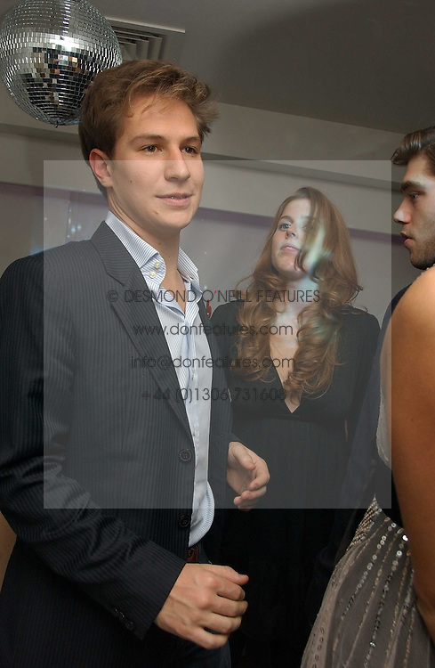 PRINCESS BEATRICE OF YORK and DAVE CLARK (CHECK) at a party to celebrate the publication of Tatler's Little Black Book 2006 held at 24, 24 Kingley Street, London W1 on 9th November 2006.<br />