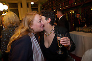 AMANDA CRAIG; JOANNE HARRIS, Drinks to celebrate the 60th anniversary of the Times Cheltenham Literature festival. Hosted by James Harding editor of the Times and the Directors of the Cheltenham Festival. The London Library. St. James's Sq. 23 September 2009.