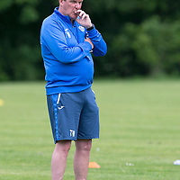 St Johnstone Training....24.07.15<br /> Manager Tommy Wright pictured during training this morning<br /> Picture by Graeme Hart.<br /> Copyright Perthshire Picture Agency<br /> Tel: 01738 623350  Mobile: 07990 594431